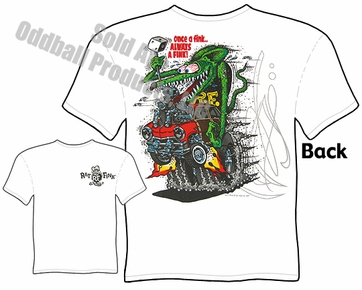 Rat Fink Shirt Once A Fink Big Daddy T 51 Ford Woody Ed Roth Tee