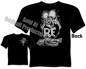 Rat Fink T Shirt Big Daddy T Ed Roth Shirts White Rat Black