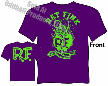 Rat Fink T Shirt Green & Purple Big Daddy T Ed Roth Clothing