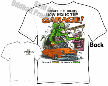 Big Daddy T How Big Is The Garage T Shirt 1950 Chevy Rat Fink T Shirt