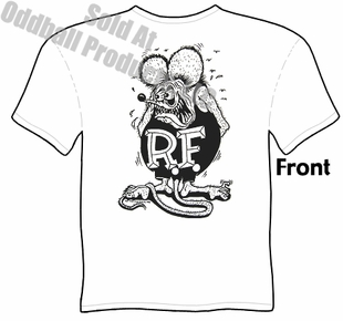 White Rat Fink T Shirt Big Daddy Tee Ed Roth Clothing