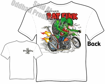Rat Fink T Shirt Brother Ed Roth Shirts Chopper Big Daddy Tee