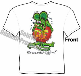 Rat Fink T Shirt Ed Roth Signature Big Daddy Tee