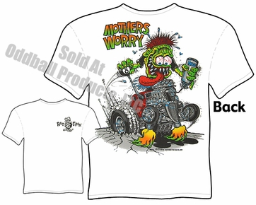 Rat Fink T Shirt Mothers Worry Ed Roth Apparel 33 34 Ford Coupe