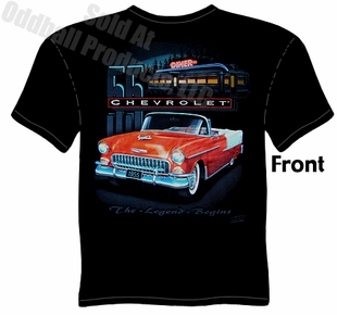 55 Chevy T Shirt 1955 Chevrolet Apparel Belair Tee