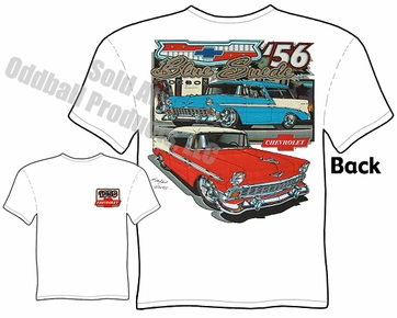 1956 Chevy Nomad T Shirt 56 Chevrolet Clothing Belair Tee