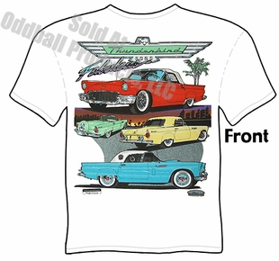 55 56 57 Thunderbird T Shirt 1955 1956 1957 Ford T Bird Clothing