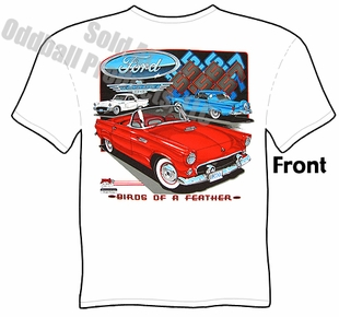 Classic Cars - Ford Thunderbird 55, 56, 57 T-shirt