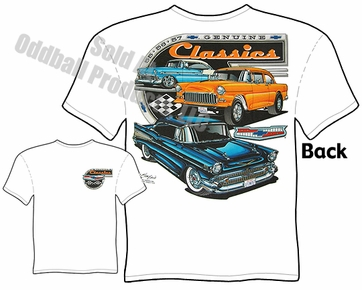 55 56 57 Chevy T Shirt 1955 1956 1957 Chevrolet Tee Genuine Classics