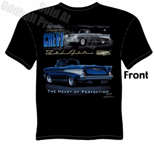 1957 Chevy T Shirt 57 Chevrolet Tee Bel Air Clothing