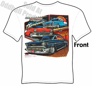 Classic Cars - Heartbeats 55, 56, 57 Chevy T-shirt