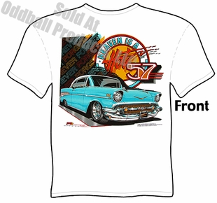 Classic Cars - Heaven Is A Hot 57 Chevy T-shirt