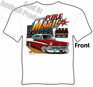 Classic Cars - Pure Magic 1956 Chevy T-shirt