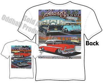 55 56 57 Chevy T Shirt 1955 1956 1957 Chevrolet Tee Belair Clothing