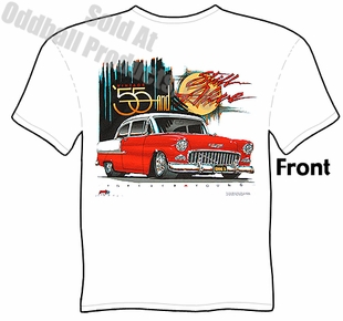 55 Chevy T Shirt 1955 Chevrolet Apparel Tee