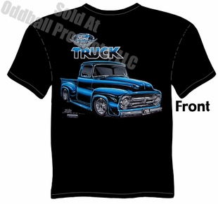 Classic Trucks - 1956 Ford Truck Black T-shirt