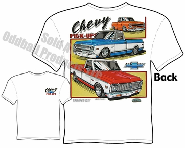 Classic Trucks - 1967 - 1972 Chevy Pickup T-shirt