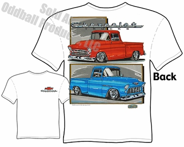 55 56 57 Chevy Pickup T Shirt 1955 1956 1957 Chevrolet Truck Tee