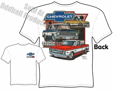 67-72 Chevy Truck T Shirt 68 69 70 71 Chevrolet C10 Pickup Tee Shirt