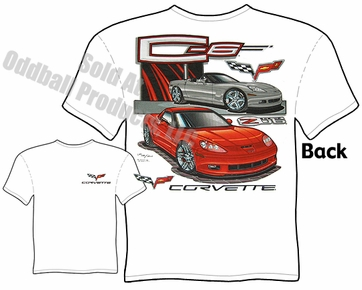 C6 Z06 Corvette T Shirt 05-13 Vette Tee 2005-2013 Chevrolet Clothing