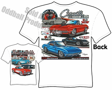 C2 Corvette T Shirt 63-67 Stingray Tee 56 57 58 C1 Chevrolet Apparel