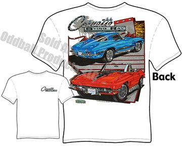 63-67 Corvette T Shirt 1963-1967 Stingray Tee 64 65 66 Chevrolet Clothing