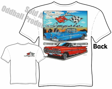 Custom Cars - 58, 59 Chevrolet Impala T-shirt
