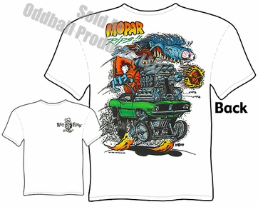 Ed Roth Clothing Big Daddy Shirt 70 Cuda Mopar Rips Rat Fink T Shirt