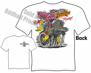 Rat Fink T Shirt Dodge Power Ed Roth Clothing Big Daddy Shirts