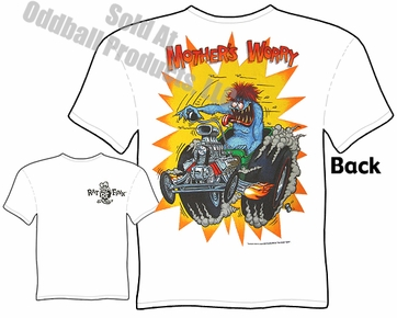 Rat Fink T Shirt Mothers Worry Ed Roth Clothing Big Daddy Tee Ford Roadster