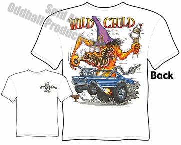 Rat Fink T Shirt Wild Child Ed Roth Rat Fink Big Daddy T 65 GTO