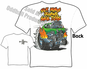 Rat Fink T Shirt Sick Minds Demand Sick Toys Ed Roth Apparel Big Daddy Tee