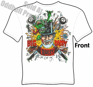 Big Daddy Rules T Shirts Ed Roth Clothing Ratfink Tee