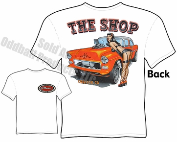 1955 Chevy Gasser T Shirt 55 Chevrolet Tee Drag Racing Apparel