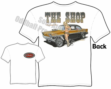56 Chevy Gasser T Shirt 1956 Chevrolet Tee Drag Racing Apparel