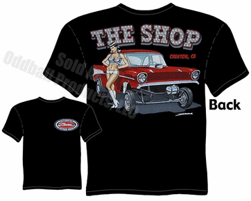 57 Chevy T Shirt 1957 Gasser Tee Drag Racing Apparel