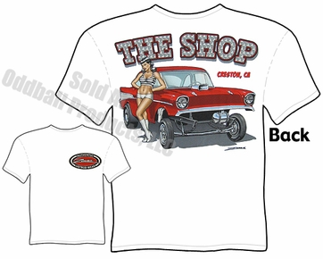 57 Chevy Gasser T Shirt 1957 Chevrolet Tee Drag Racing Clothing