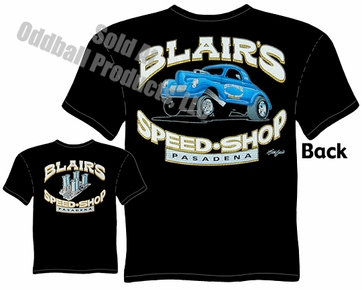 1940 Willys T Shirt Blair's Speed Shop Tee 40 Gasser Clothing
