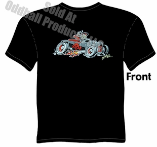 1927 Hot Rod T-shirt 27 Ford Roadster Tee Devil Rod