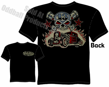 Skull & Pistons T Shirt 30 31 Ford Hot Rod Tee