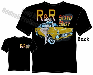 1955 Gasser T Shirt 55 Ford Tee Speed Shop Clothing