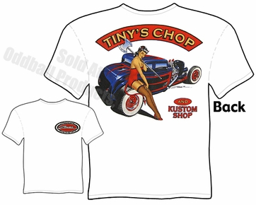 1932 Ford Coupe T Shirt 32 Hot Rod Clothing Pinup Tee