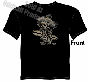 El Borracho Surfer T Shirt Kustom Kulture Tee Garage Clothing