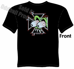 Eyes Iron Cross T Shirt Garage Clothing Kustom Kulture Tee