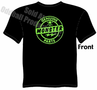 Genuine Monster Parts T Shirt Kustom Kulture Tee Garage Apparel