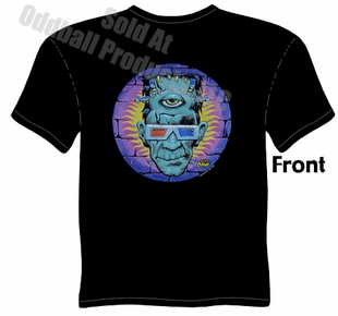 God Of 3D T Shirt Kustom Kulture Tee Frankenstein Clothing