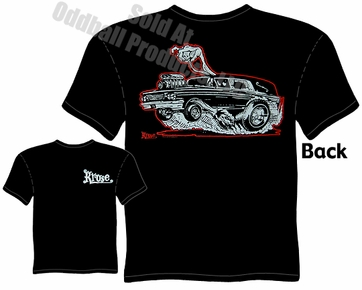 Hot Rod Hearse T Shirt Kustom Kulture Apparel Garage Tee