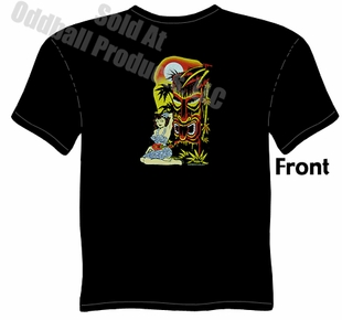 Hula Girl Tiki T Shirt Kustom Kulture Tee Garage Apparel