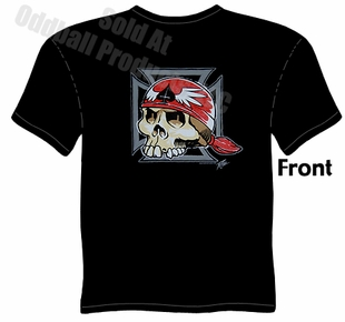 Iron Cross Skull T Shirt Kustom Kulture Tee Garage Clothing