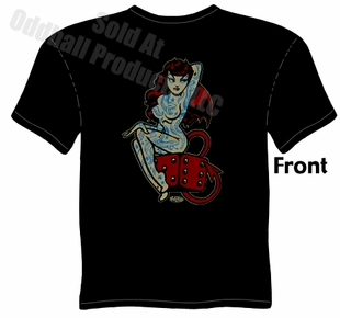 Lucky Tattoo Devil Girl T Shirt Kustom Kulture Tee